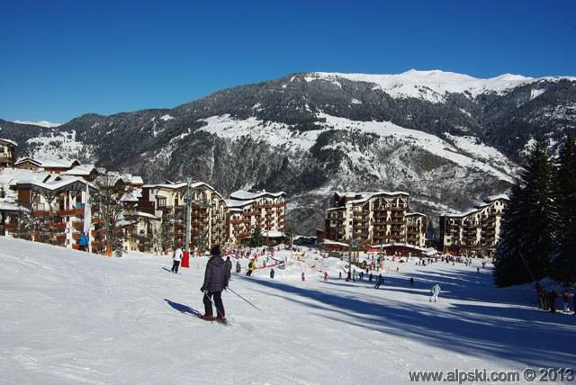 Village, front de neige, La Tania