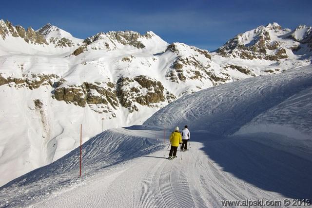Germain Mattis red slope, Val d'Isère