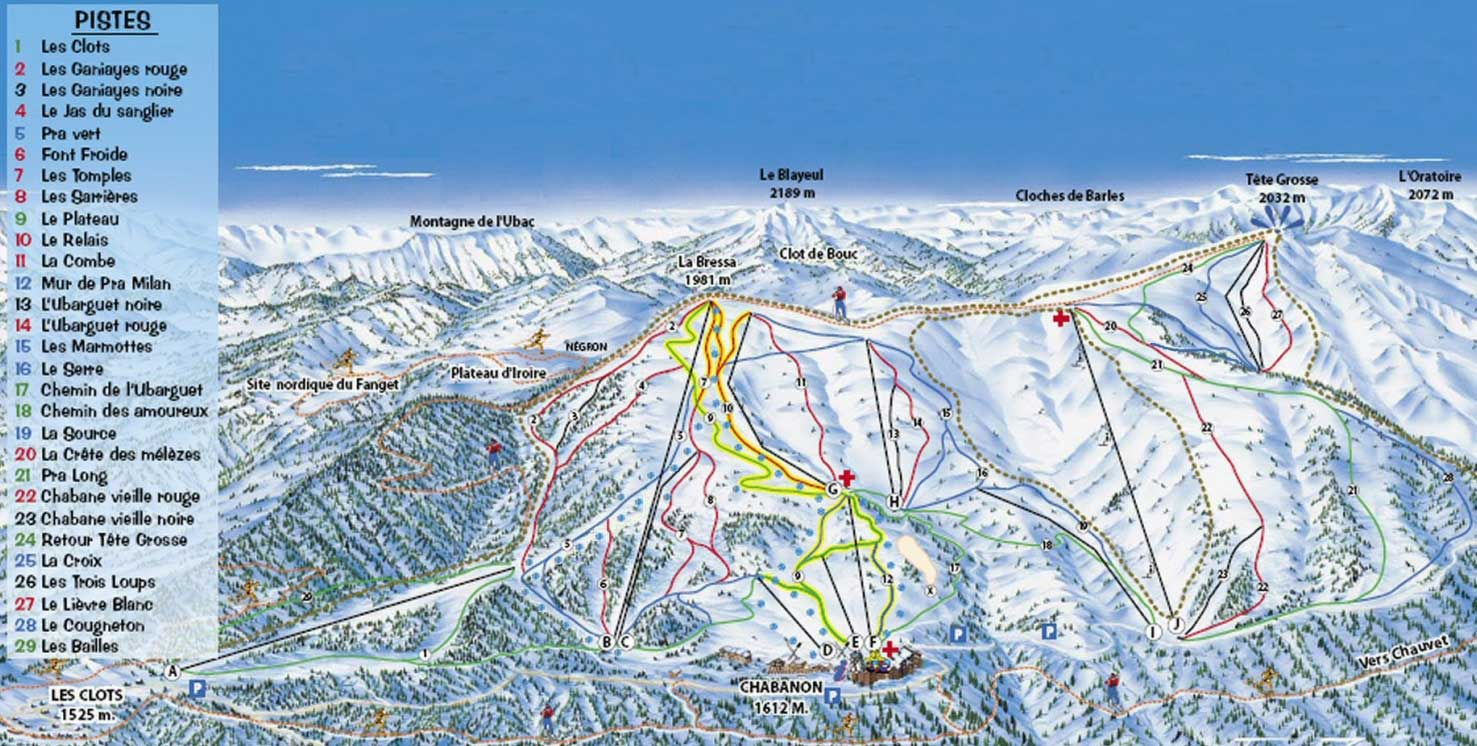Chabanon piste map